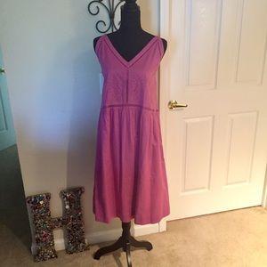 NWT Ann Taylor LOFT Embroidered Sleeveless Dress